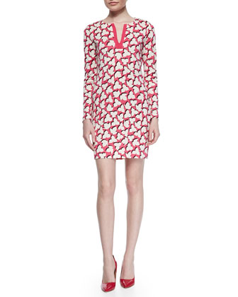 Rein Floral-Print Jersey Dress