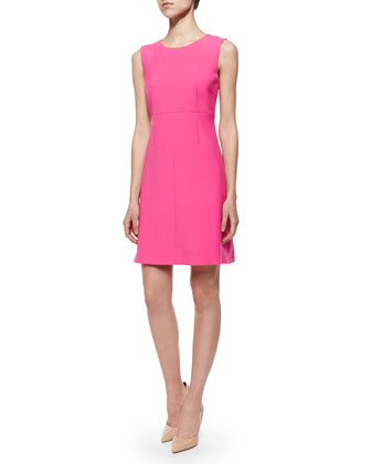 Carrie Sleeveless Crepe Dress