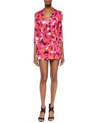 Celeste Floral-Print Wrap Dress