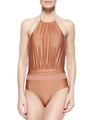 Frida's Metallic Halter One-Piece