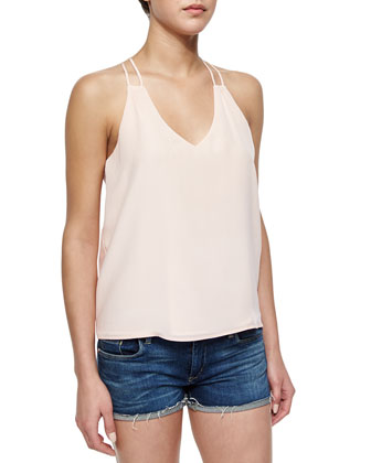 Hawi Double-Strap Silk Top