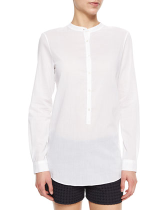 Jayton Long-Sleeve Cotton Blouse