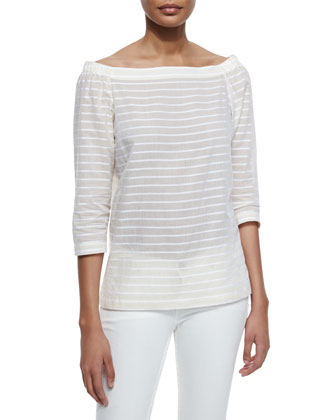 Vinata Striped Voile Top