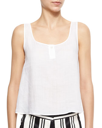Zelia Sleeveless Gauze Top