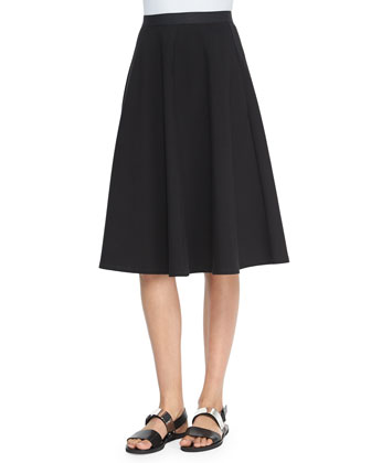 Zelia Striped Sleeveless Top & Zaikin A-Line Poplin Skirt
