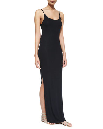 Scoop-Neck Maxi Jersey Dress