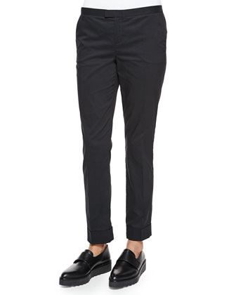 Pinstripe Slim Cuffed Pants