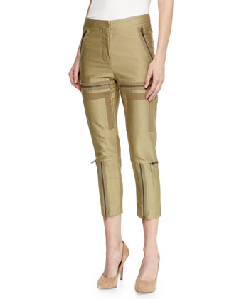 Auden Multi-Zip Cropped Pants