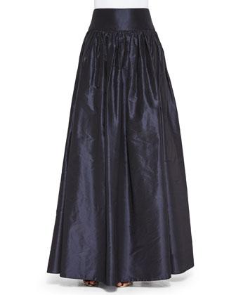 Beaded Zip-Front Crop Top & Taffeta Ball Skirt
