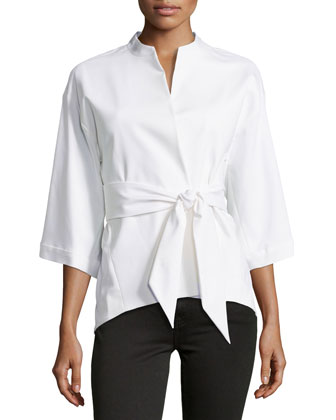 Batu 3/4-Sleeve Jacket, White