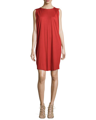 Babydoll Jersey Dress, Red