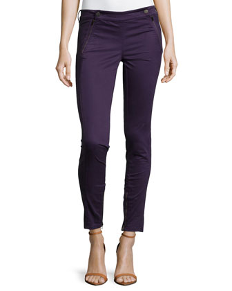 Tuxedo Zip-Pocket Jeans, Purple