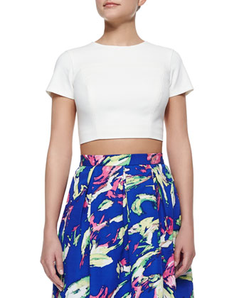 Edna Short-Sleeve Crop Top