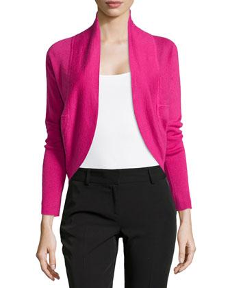 Riza Bolero Silk Cashmere Sweater, Orchid