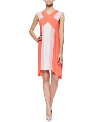 Chantal Colorblock Crisscross Dress