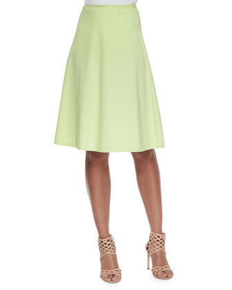 Woven-Stretch A-Line Circle Skirt