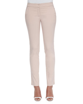 Barolo Stretch Flat-Front Pants
