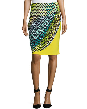 Deco Wave and Dot Skirt, Key Lime