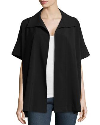 Bistretch Short-Sleeve Jacket, Black