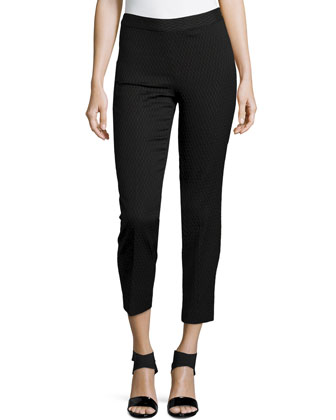 Textured Jacquard Pants, Black