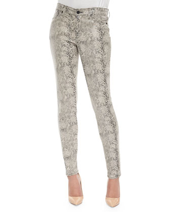 Joy Python-Print Knit Leggings