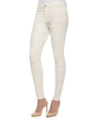 Joy Python Foil Print Leggings, Natural