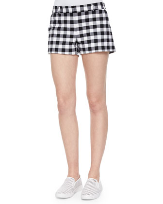 Waterfront Gingham Mini Shorts