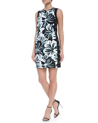 Paradise Print Grommet Dress