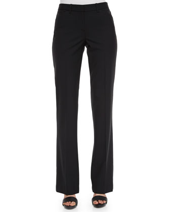 Max Straight-Leg Suit Pants