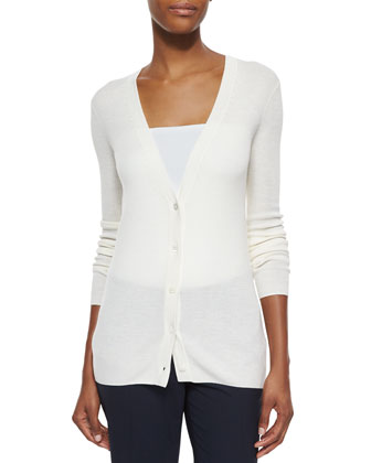 Preen Long V-Neck Merino Cardigan & Edition Super Slim Straight Pants