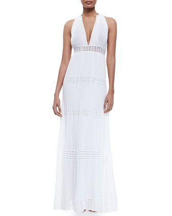 Sleeveless Plisse Maxi Dress