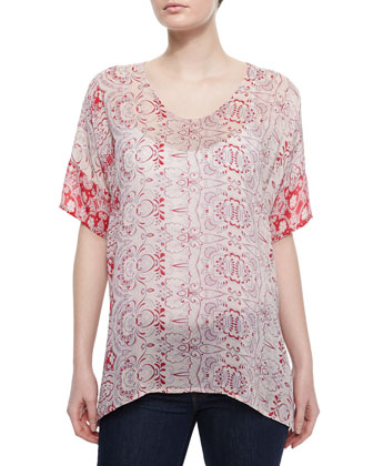 Faith Boxy Print Top, Women's