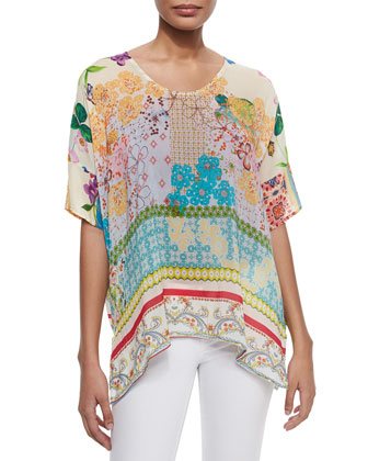 Faith Boxy Floral-Print Top