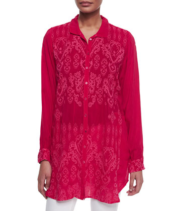 Azit Button-Front Tunic, Women's