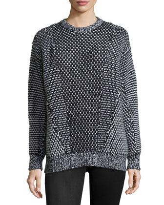 Long Crewneck Sweater, Multi