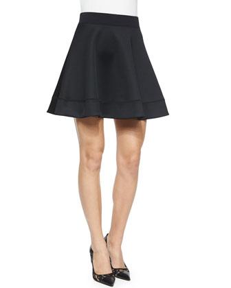 scuba circle skirt, black