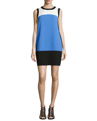 maysie sleeveless colorblock dress