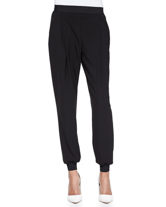 Presley Pleated Pants, Black
