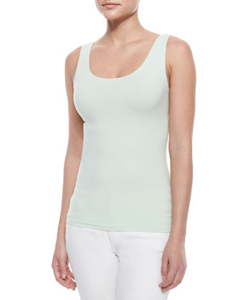 Neely Sleeveless Knit Tank, Mint