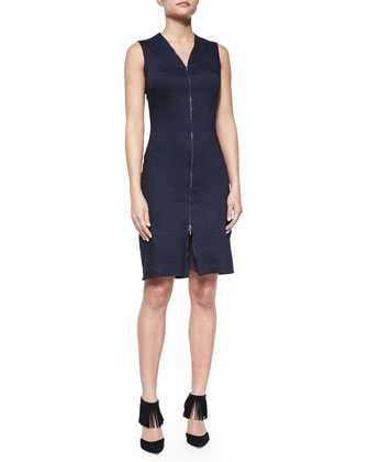 Kate Sleeveless Zip-Front Dress
