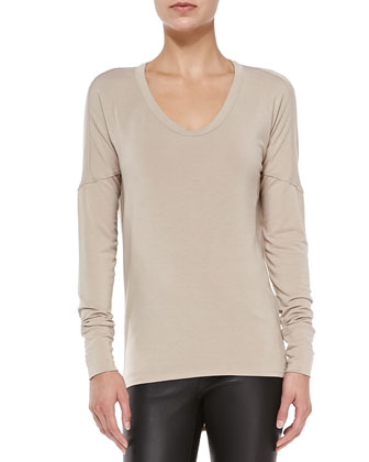 Nova Drape-Back Jersey Top