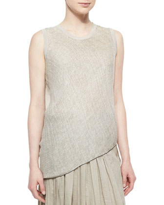 Savannah Sleeveless Linen Blouse & Luna Pleated Maxi Skirt