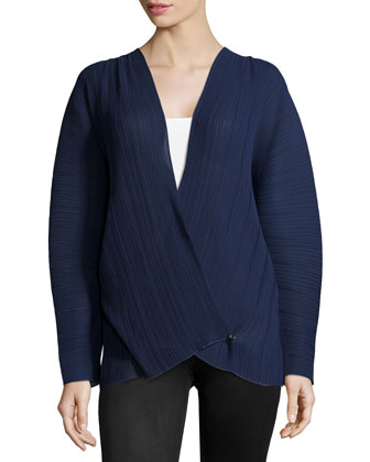 Long-Sleeve V-Neck Wrap Top