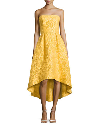 Strapless High-Low Cocktail Dress, Sun