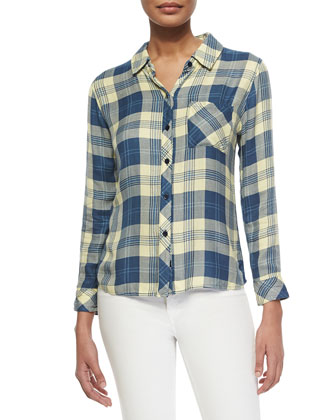 Hunter Long-Sleeve Plaid Top
