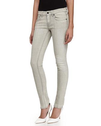 Skinny Denim Jeans, Gray
