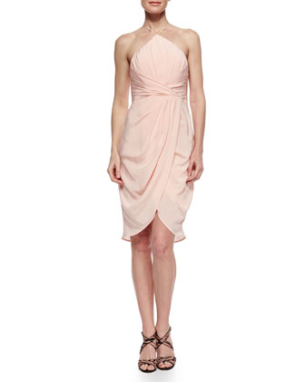 Gathered Halter Dress