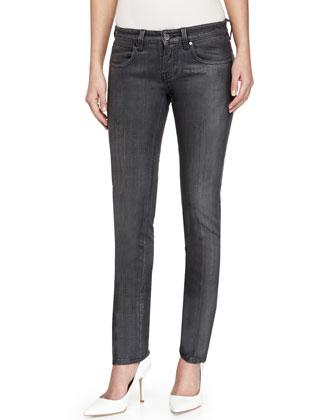 Skinny Denim Jeans, Charcoal