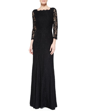 Zarita Full-Length Lace Gown