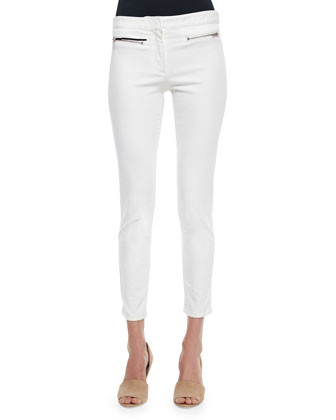 Skinny Zip-Pocket Cropped Jeans